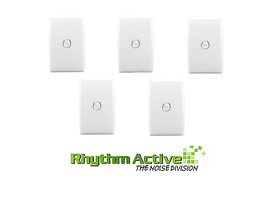 Clipsal Sl2031 Va 5-Pack Single Vertical Power  Switch Wall Panel 10A White Slim