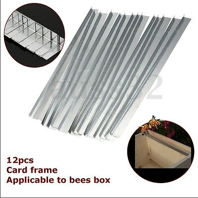 12 Stainless Steel Bee Hive Beekeeping Brood Box Card Frame Runners 37cm 15''