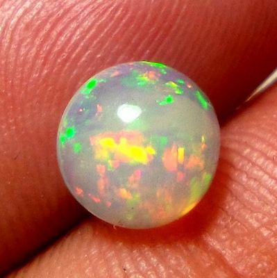 7MM AA Quality Ethiopian Opal Round Cabochon 5P Loose Gemstone For Jewelry