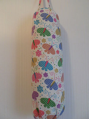 Dotty Butterflys Carrier Bag Holder/Dispencer  Homecrafted Shabby Chic (a)