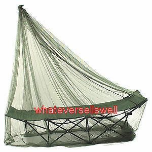 COMPACT OLIVE SINGLE TRAVEL MOSQUITO NET insect midge