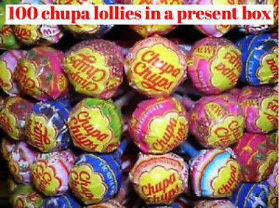 100 CHUPA CHUPS MIXED LOLLIES Sweets party mix hamper present  wholesale retro