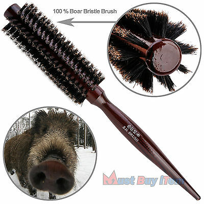 Natural Boar Bristle Round Hair Rollers Brush Styling Wood Hairbrush Wood Combs