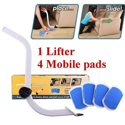 Furniture Lifter Moves with Mover Sliders Kit Home Moving Lifting System Tools