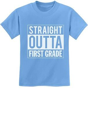 Straight Outta First 1st Grade School Graduation Youth Kids Girl T-Shirt - s