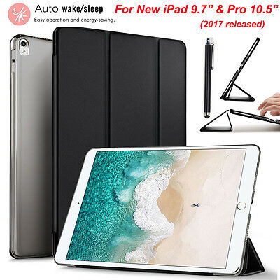 """For New iPad 9.7"""" & Pro 10.5"""" 2017 Luxury Leather Slim Stand Smart Case Cover"""
