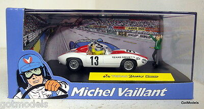 Michel Vaillant cartoon 1/43 scale diorama Texas Drivers Bocar model car + figs