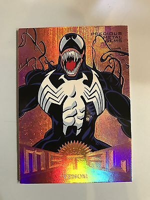 2017 Fleer Ultra Spiderman Agent Venom Bronze Precious Metal Gems Card /199 PMG