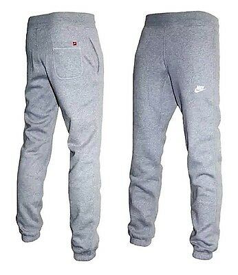 New Mens Nike Fleece Joggers Tracksuit Bottoms Jogging Pants Grey Marl Size XL