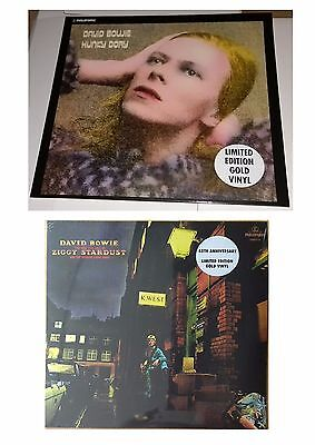 DAVID BOWIE Ziggy Stardust Hunky Dory GOLD VINYL LP SEALED RARE 45th Anniversary