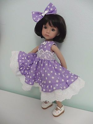 Pixies Hand Made: Dress/bow : Compatible With 13 Ins Doll Little Darling