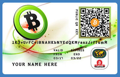 Bitcoin (0,03 BTC) Only 100 € Direct To Your Wallet + Plastic Wallet Card
