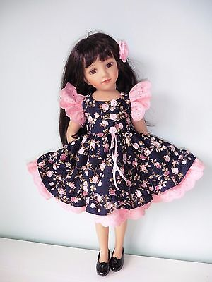 Pixies Hand Made :dress For 18 Inch Doll: Fits Gotz Hannah /happy Kids/maru