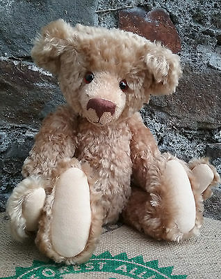 German artist mohair teddy bear by Renate Hanisch of Bears from No.27, tag, 16""