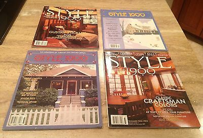 Arts & Crafts Mission Style 1900 Magazines All issues 1-4 2003 Special Stickley