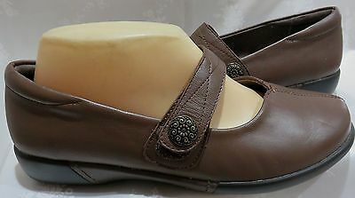 New*homy Ped Delphi* Women's Sz 8~Brown Leather Flats~Rrp $149.95~Save $~Winter!