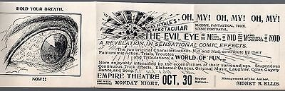 Rare 1899 Empire Theatre Illustrated  Advertising Booklet for Play The Evil Eye
