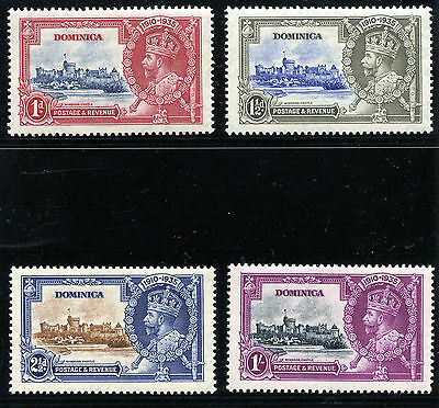 Dominica 1935 KGV Silver Jubilee set complete MLH. SG 92-95. Sc 90-93.
