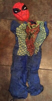 Vintage Ben Cooper Spiderman TV Hero Costume Material Not Vinyl