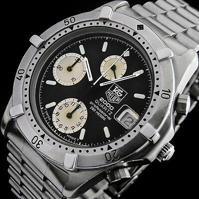 Tag Heuer Professional 2000 Diver Chronograph Wr-200M Herren Uhr 262.006/1 + Box