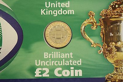 1999 Rugby World Cup Two Pound £2 Brilliant Uncirculated Coin Presentation Pack