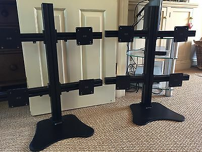 2 Quadvision VT LCD Stands each holding 4 screens + Samsung Monitors
