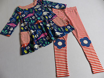 MINI BODEN dinosaur tunic & leggings set 7-8 years VGC