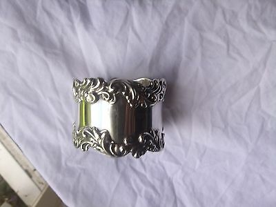 Solid silver napkin ring
