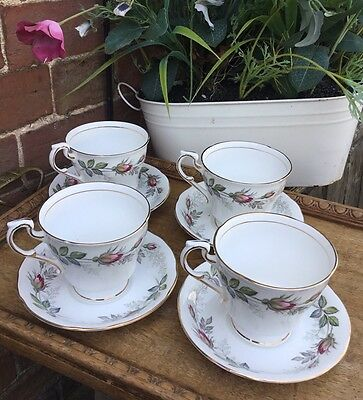 Vintage BRIDAL ROSE By Paragon Large Cups & Saucers Wedding Tea Party