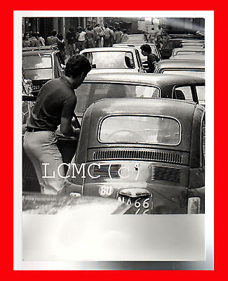 Fotografia Photo Vintage B/n Black And White 1978 Napoli La Fiat 500