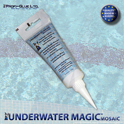 underwater mosaic repair adhesive and sealant, color: white 1x 120g