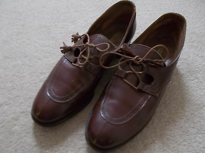 vintage brown leather ladies brogues size 5