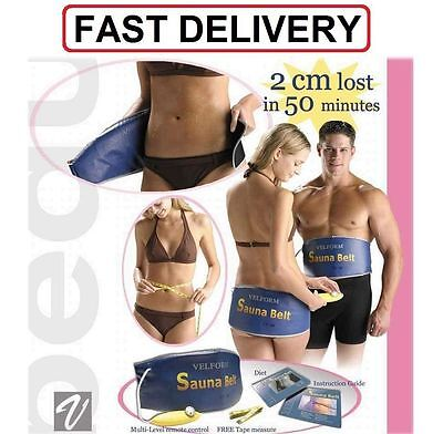 Electric Sauna Slimming Belt Body Shaper Weight Loss Fat cellulite Burner UK