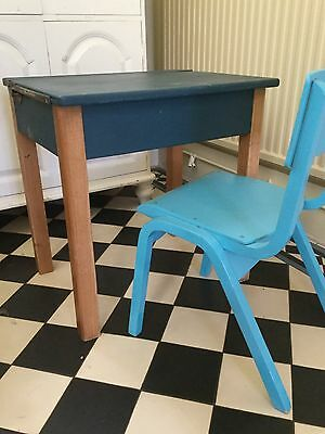 Old fashioned School desk with lift up lid