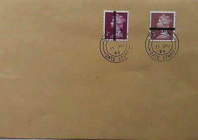 Great Britain 1993 Cover With 1P & 7P Training Stamps With Specimen Date Stamp