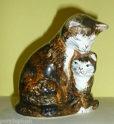 Babbacombe Pottery Mother Cat & Kitten Washing Lownds Pateman
