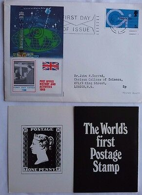 Great Britain 1969 Medical Promotion First Day Cover With Penny Black Promotion