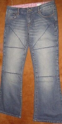 Hornee Motorcycle Jeans Size 14 SA-W4 With Singlet