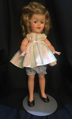 Vintage Ideal SHIRLEY TEMPLE Vinyl Doll Model ST-12 Striped Dress & Bloomers