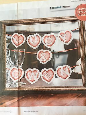 Love Is In The Air    ( Cross Stitch Chart Only ) Assisi Hearts  ABC