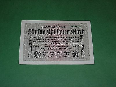 Germany 50000000 Mark 1923 Banknote Uncirculated