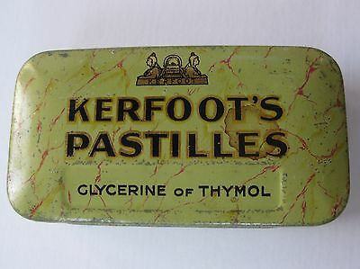VINTAGE TIN - Kerfoot's Pastilles, Glycerine and Thymol