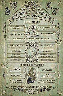 NEW * HARRY POTTER  * HOGWARTS SCHOOL LIST MAXI POSTER 62cm X 91cm PP34102 - 53