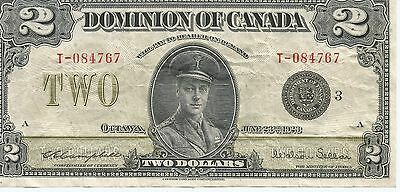 The Dominion  Bank  1923 Large Size 2$  Bill --  Dc-26J - Campbell & Sellar