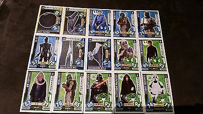 Force Attax Star Wars Universe Lot 3... 15 cards