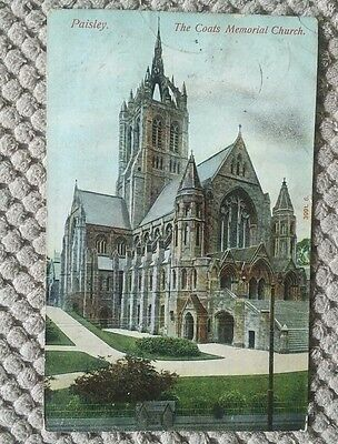 Vintage Postcard 1905 Coats Memorial Church, Paisley, Scotland