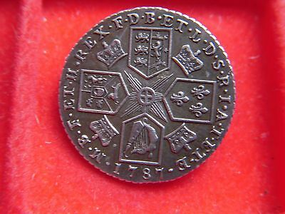 1787 George 111 Shilling Brooch In A High Grade [P93]