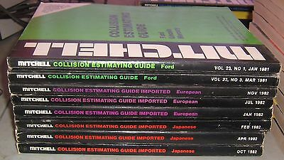 Mitchell Collision Estimating Guide,1981,1982,Ford,European & Japanese Imports