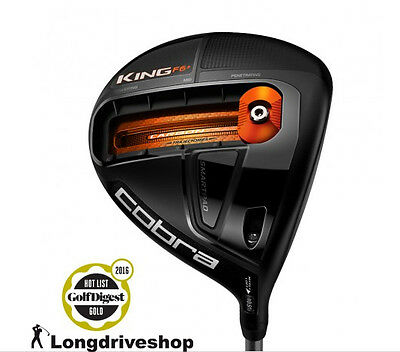 King Cobra F6+ Driver BLACK / ORANGE *NEW* +RECHTSHAND+ STIFF