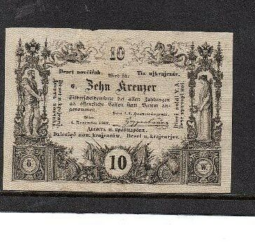 Stamps Austria? 1860 postal currency note?